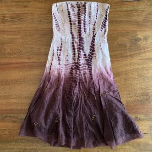 Guess Ombre Strapless Dress